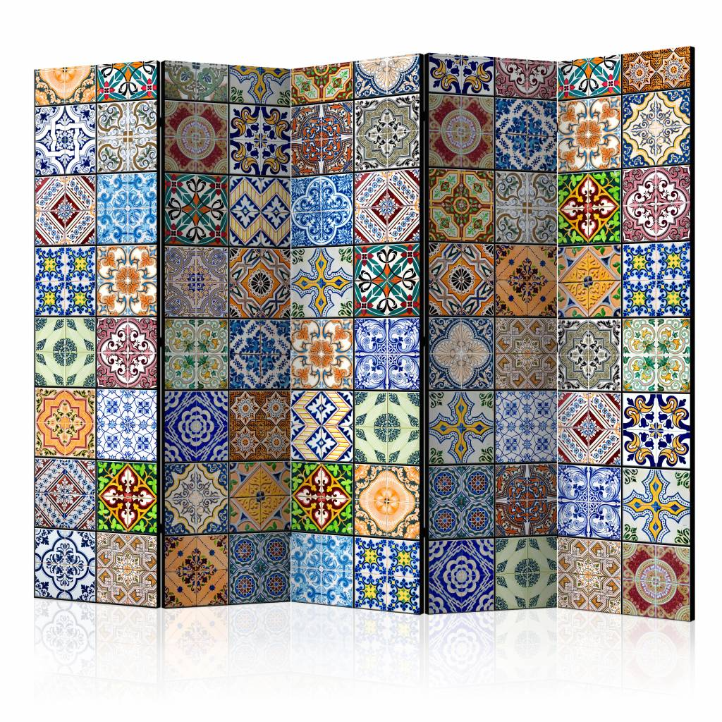 Vouwscherm - Mozaik in kleuren 225x172cm