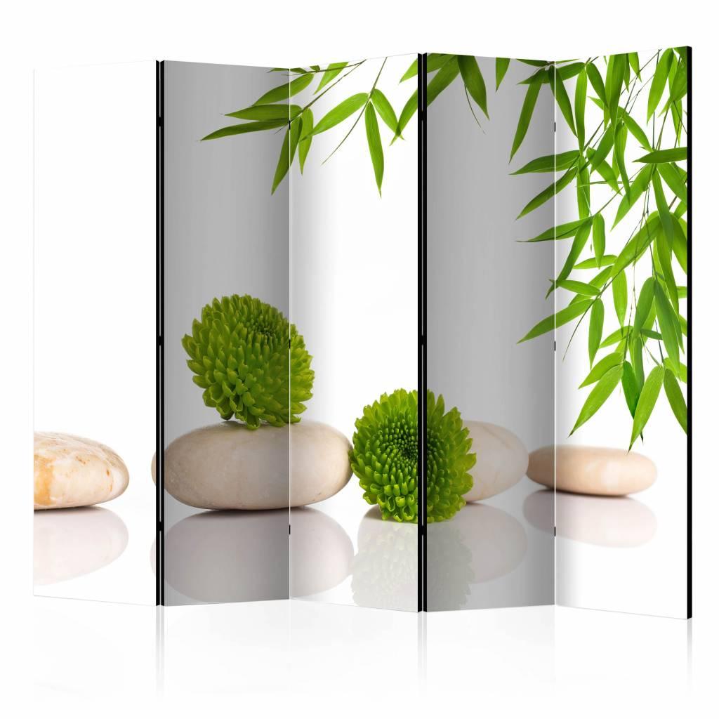 Vouwscherm - Relax in het groen 225x172cm