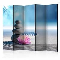 Vouwscherm - Zen Garden 225x172cm , gemonteerd geleverd, dubbelzijdig geprint (kamerscherm)