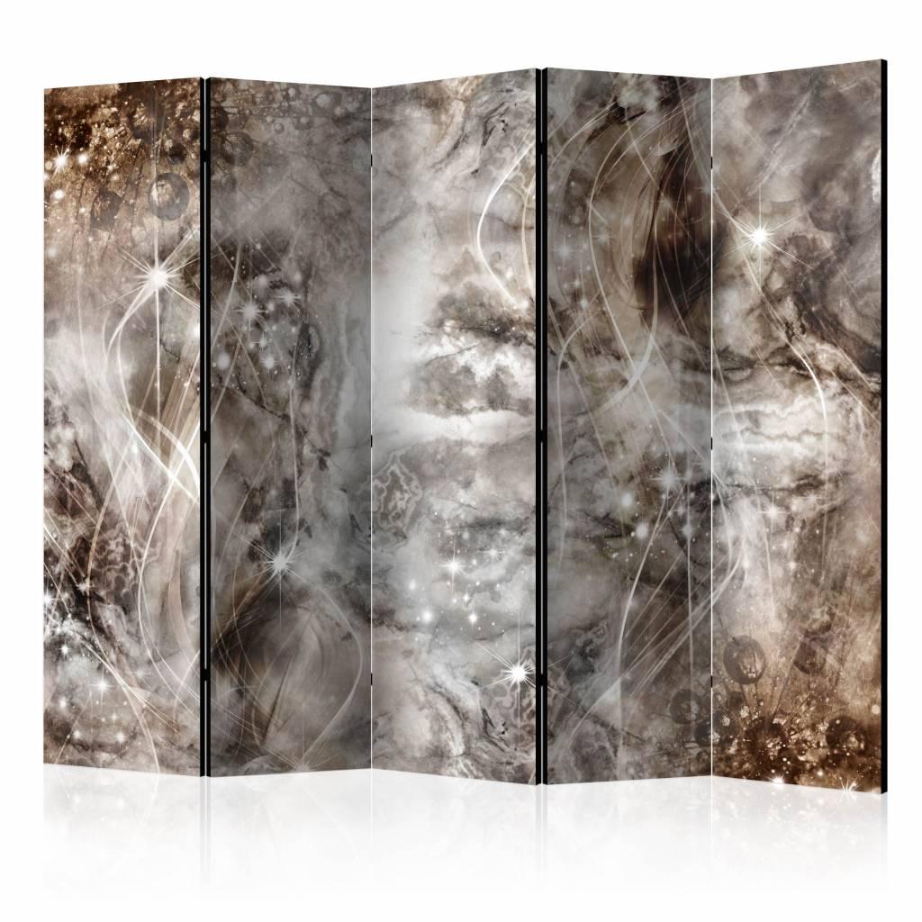 Vouwscherm - Magie van marmer 225x172cm