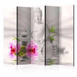 Vouwscherm - Boeddha en Orchidee 225x172cm