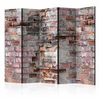 Vouwscherm - Oude muren 225x172cm , gemonteerd geleverd (kamerscherm)
