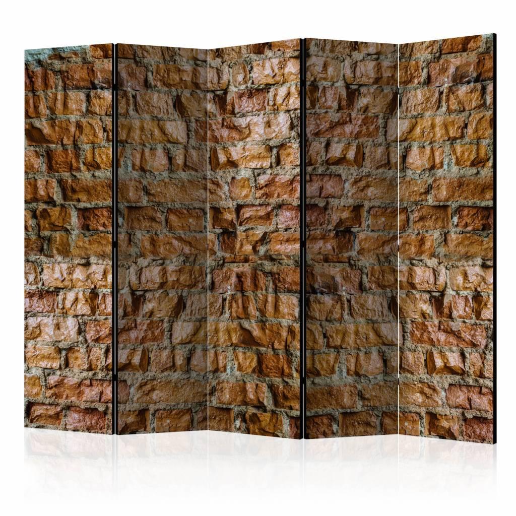 Vouwscherm - Stenen charme 225x172cm