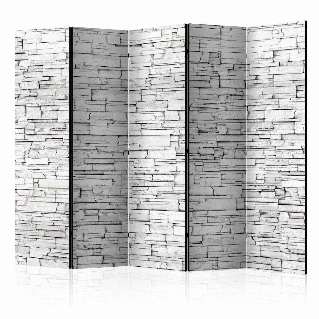 Vouwscherm - Witte muur 225x172cm
