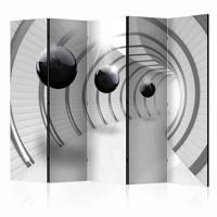 Vouwscherm - Futuristische tunnel 225x172cm  , gemonteerd geleverd (kamerscherm)