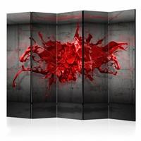 Vouwscherm - Red Ink Blot II [Room Dividers]