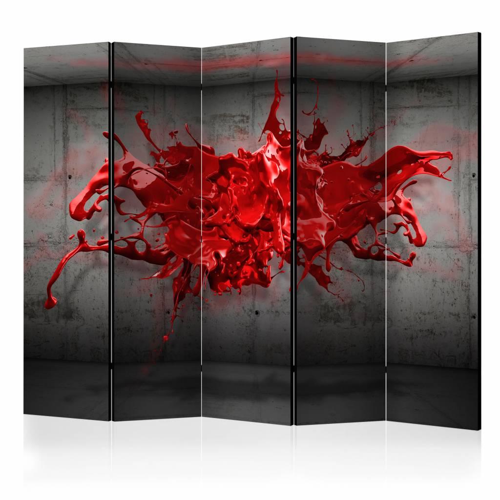 Vouwscherm - Rode inkt 225x172cm