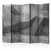 Vouwscherm - Betonnen Geometrie 225x172cm