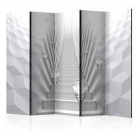 Vouwscherm - De trap  225x172cm  , gemonteerd geleverd, dubbelzijdig geprint (kamerscherm)