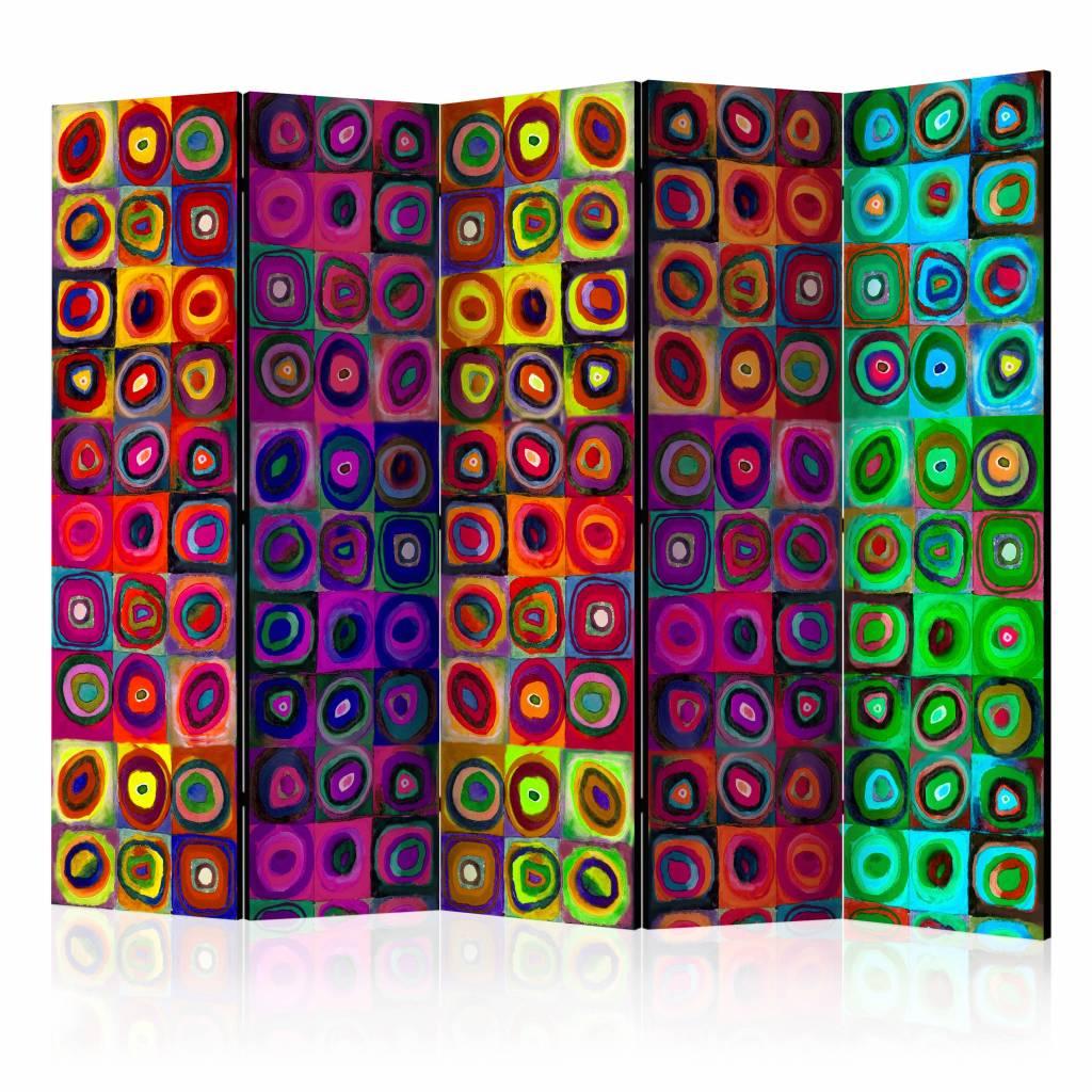 Vouwscherm - Kleurrijk abstract 225x172cm