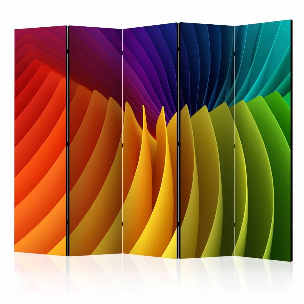 Vouwscherm - Regenboog 225x172cm