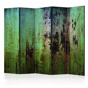 Vouwscherm - Groene mysterie  225x172cm