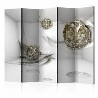 Vouwscherm - Abstracte diamanten 225x172cm  , gemonteerd geleverd (kamerscherm)