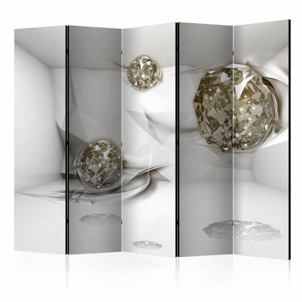 Vouwscherm - Abstracte diamanten 225x172cm