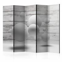 Vouwscherm - Ballen 225x172cm  , gemonteerd geleverd, dubbelzijdig geprint (kamerscherm)