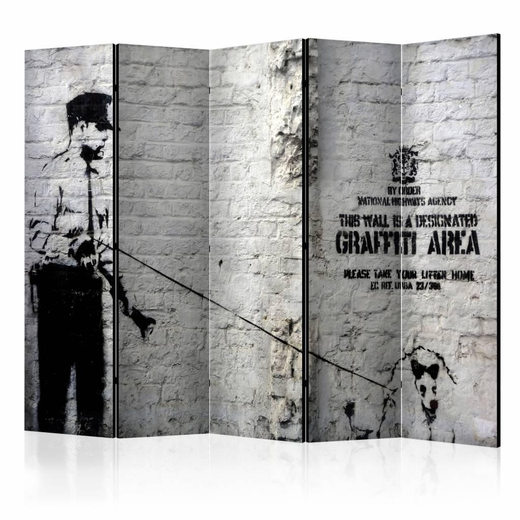 Vouwscherm - Graffiti Area, Banksy 225x172cm