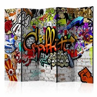 Vouwscherm - Graffiti  225x172cm  , gemonteerd geleverd, dubbelzijdig geprint (kamerscherm)