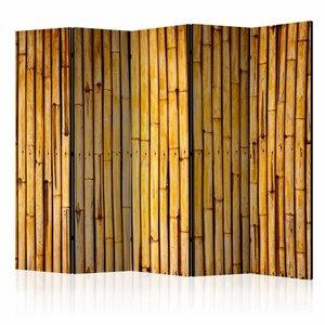 Vouwscherm - Bamboe tuin 225x172cm  , gemonteerd geleverd, dubbelzijdig geprint (kamerscherm)