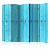 Vouwscherm - Blauwe planken 225x172cm