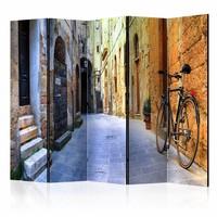 Vouwscherm - Italiaanse vakantie 225x172cm  , gemonteerd geleverd, dubbelzijdig geprint (kamerscherm)