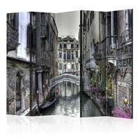 Vouwscherm - Romantisch Venetië  225x172cm  , gemonteerd geleverd, dubbelzijdig geprint (kamerscherm)
