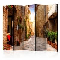 Vouwscherm - Straatje in Toscane 225x172cm