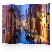 Vouwscherm - Avond in Venetië 225x172cm  , gemonteerd geleverd, dubbelzijdig geprint(kamerscherm)