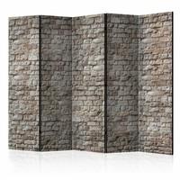 Vouwscherm - Reality, stenen muur 225x172cm