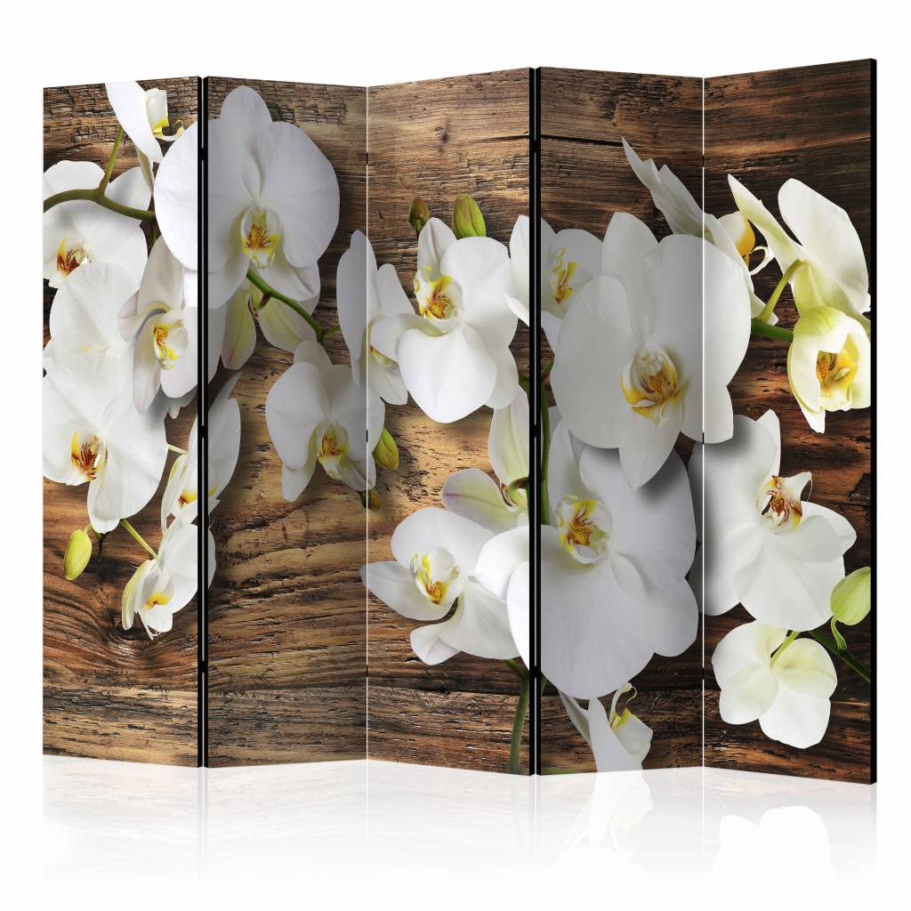 Vouwscherm -Bos orchidee 225x172cm