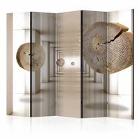 Vouwscherm - Futuristische bos  225x172cm  , gemonteerd geleverd (kamerscherm)