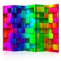 Vouwscherm - Kleurrijke blokken 225x172cm