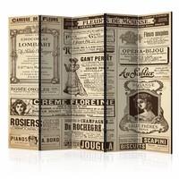 Vouwscherm - Vintage Magazines 225x172cm  , gemonteerd geleverd (kamerscherm)