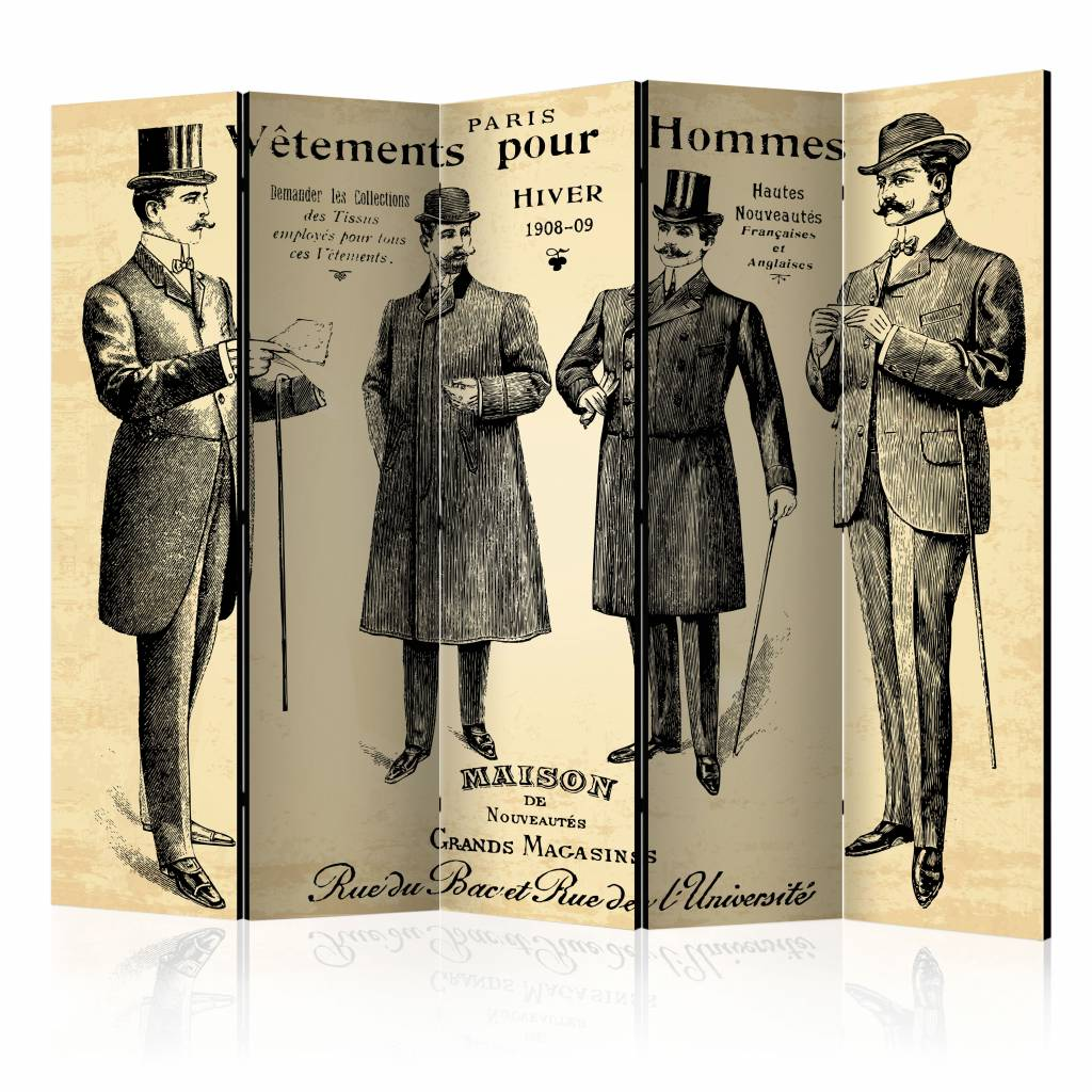Vouwscherm - Vêtements pour Homme, keurige heren 225x172cm , gemonteerd geleverd, dubbelzijdig gepri