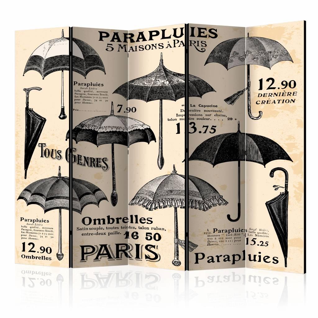 Vouwscherm - Vintage Paraplus 225x172cm