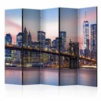 Vouwscherm - City of Dreams, New York  225x172cm, gemonteerd geleverd, dubbelzijdig geprint (kamerscherm)