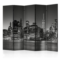 Vouwscherm - New York Nights II , 225x172cm, gemonteerd geleverd, dubbelzijdig geprint (kamerscherm)