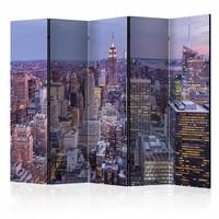 Vouwscherm - New York in het schemer 225x172cm