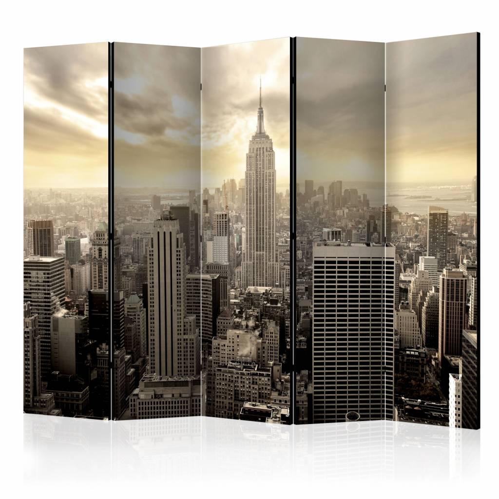 Vouwscherm - Het licht van New York 225x172cm