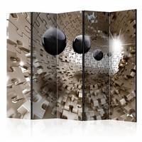 Vouwscherm - Gouden puzzel 225x172cm