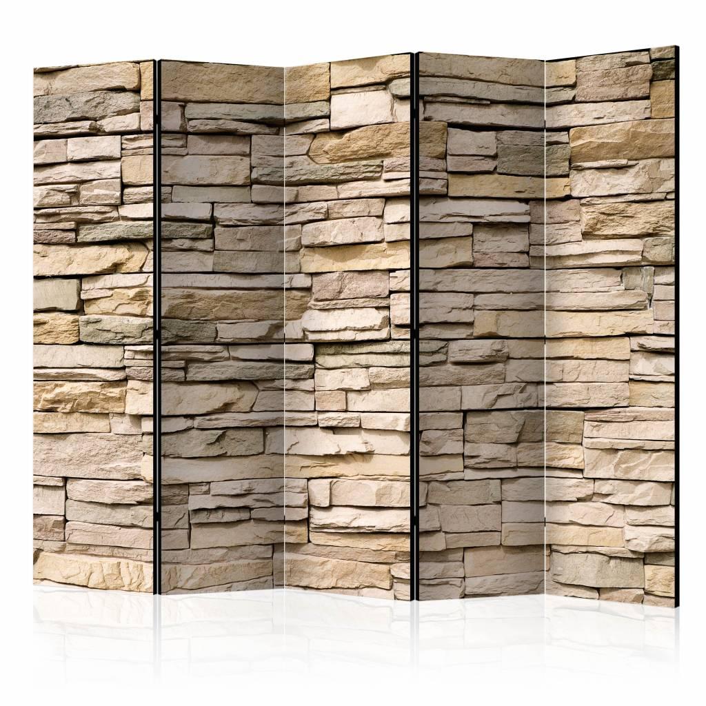 Vouwscherm - Decoratieve stenen 225x172cm