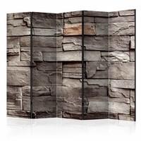 Vouwscherm - Muur van stilte 225x172cm  , gemonteerd geleverd, dubbelzijdig geprint (kamerscherm)