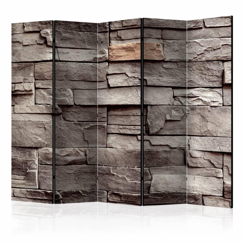 Vouwscherm - Muur van stilte 225x172cm