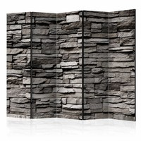 Vouwscherm - Stenen muur 225x172cm  , gemonteerd geleverd (kamerscherm)