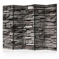 Vouwscherm - Stenen muur 225x172cm