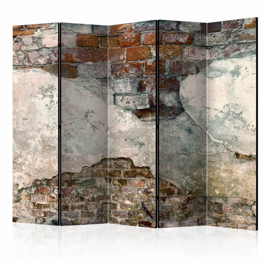 Vouwscherm - Kwetsbare muur 225x172cm