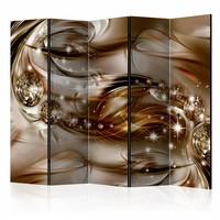 Vouwscherm - Chocolade Vloed 225x172cm  , gemonteerd geleverd (kamerscherm)