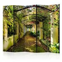 Vouwscherm - Romantische tuin 225x172cm  , gemonteerd geleverd, dubbelzijdig geprint(kamerscherm)