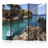 Vouwscherm - Vakantie 225x172cm  , gemonteerd geleverd, dubbelzijdig geprint (kamerscherm)