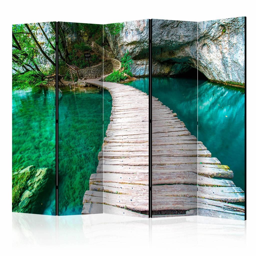 Vouwscherm - Emerald Meer 225x172cm