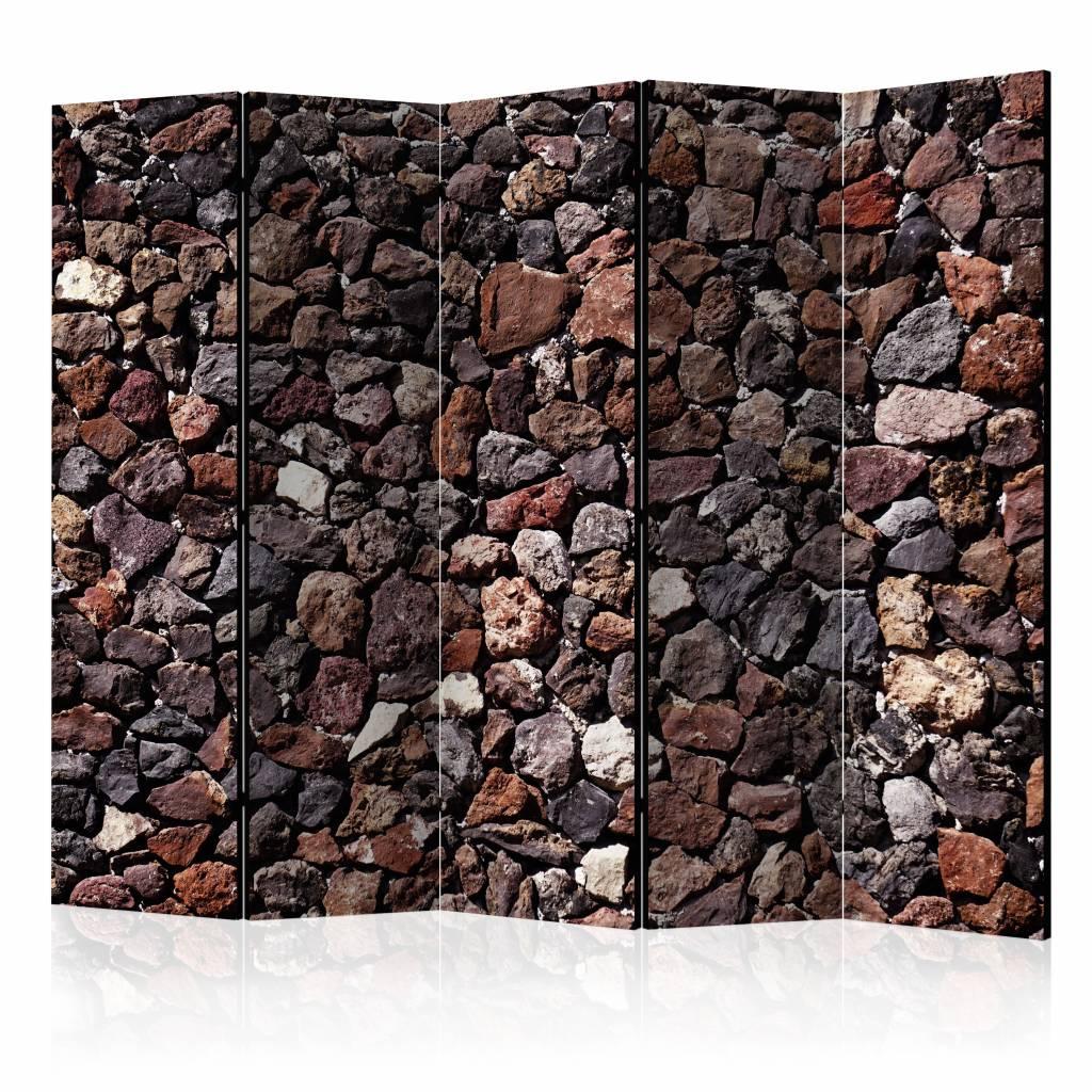 Vouwscherm - Kasteel muur 225x172cm